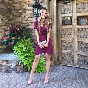 Aritzia Babaton Wallace Dress - Barolo Red